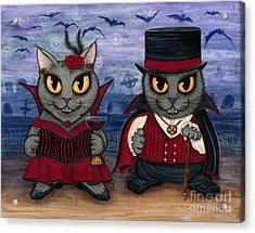 Vampire Cat Couple Acrylic Print