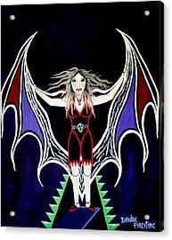 Vampire Lady Of Death Acrylic Print by Deidre Firestone