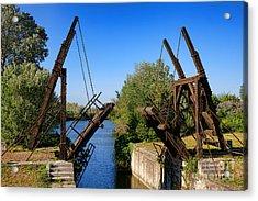 Van Gogh Bridge In Arles Acrylic Print by Olivier Le Queinec