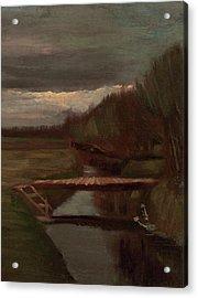 Van Gogh Ditch And Small Bridge Acrylic Print by Vincent Van Gogh