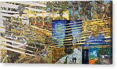 Acrylic Print featuring the digital art Van Gogh Mural Il by David Bridburg