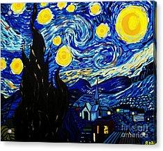 Van Gogh Starry Night  Acrylic Print by Scott D Van Osdol