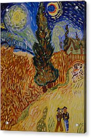 Van Gogh Study Acrylic Print by Michele Flannery