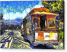 Van Gogh Vacations In San Francisco 7d14099 Acrylic Print by Wingsdomain Art and Photography