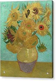 Van Gogh Vase With Twelve Sunflowers  Acrylic Print by Vincent Van Gogh