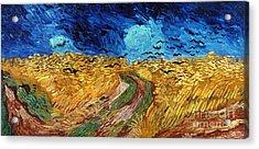 Van Gogh: Wheatfield, 1890 Acrylic Print by Granger