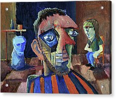 Van Gogh's Therapy Session Acrylic Print by Paul  Van Atta