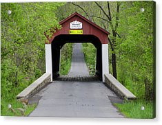 Van Sandt Covered Bridge - Bucks County Pa Acrylic Print by Bill Cannon