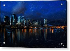 Vancouver At Dusk Acrylic Print