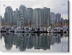 Vancouver Bc - Boats And Condos Acrylic Print
