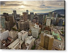 Vancouver Bc Cityscape Aerial View Acrylic Print by David Gn