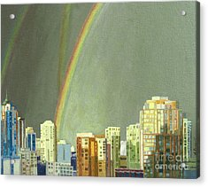 Vancouver Bc Acrylic Print by Lynne Reichhart