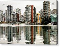 Vancouver Bc Sky Line Acrylic Print