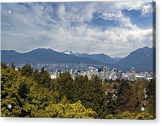 Vancouver Bc Skyline Daytime View Acrylic Print by David Gn