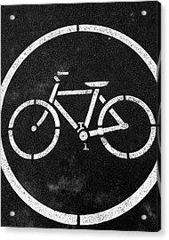 Vancouver Bike Lane- Art By Linda Woods Acrylic Print