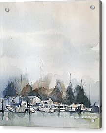 Vancouver Boats Acrylic Print by Stephanie Aarons