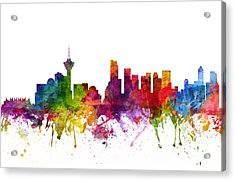 Vancouver Canada Cityscape 06 Acrylic Print by Aged Pixel