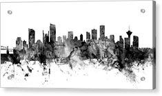 Vancouver Canada Skyline Panoramic Acrylic Print