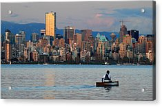 Vancouver Canoe Acrylic Print by Pierre Leclerc Photography