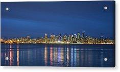 Vancouver Cityscape Acrylic Print by Mauricio Ricaldi