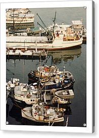 Acrylic Print featuring the photograph Vancouver Harbor Fishin Fleet by Jack Pumphrey