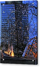 Vancouver - Magic Of Light And Water No 1 Acrylic Print by Ben and Raisa Gertsberg