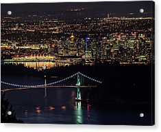 Vancouver Night From Cypress Mountain Acrylic Print