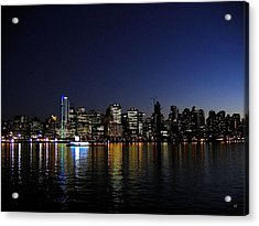 Vancouver Night Lights Acrylic Print by Will Borden