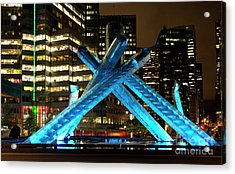 Vancouver Olympic Cauldron At Night Acrylic Print