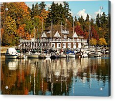 Vancouver Rowing Club In Autumn Acrylic Print