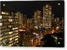Vancouver Skyline Acrylic Print by Nancy Harrison