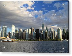 Vancouver Sunset From Stanley Park Acrylic Print by Pierre Leclerc Photography