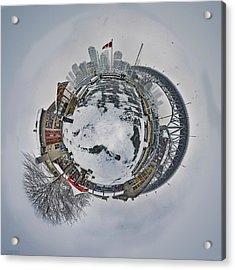Vancouver Winter Planet Acrylic Print by Mauricio Ricaldi