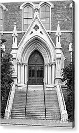 Vanderbilt University Kirkland Hall Entrance Acrylic Print