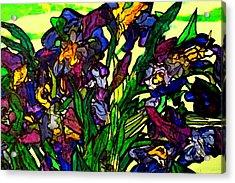 Vangogh Iris Montage In Focus Acrylic Print
