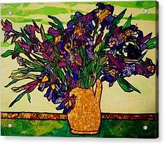 Vangogh Iris Montage Acrylic Print