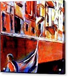Vanice Canal Cruise 2 Acrylic Print