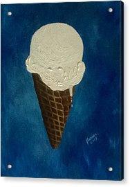 Vanilla Cone Acrylic Print by Joann Renner