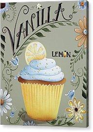 Vanilla Lemon Cupcake Acrylic Print by Catherine Holman