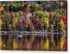 Vanishing Autumn Reflection Landscape Acrylic Print