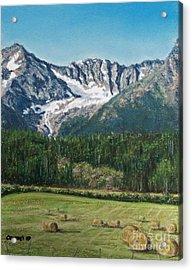Vanishing Glacier Acrylic Print by Stanza Widen