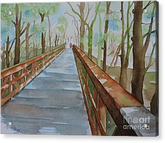 Vanishing Point Acrylic Print by Lise PICHE