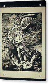 Vanquishing The Devil Acrylic Print by Attila Farkas