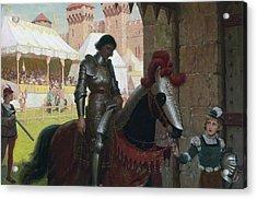 Vanquished Acrylic Print by Edmund Leighton