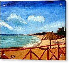 Varadero Beach  Acrylic Print by Maria Soto Robbins