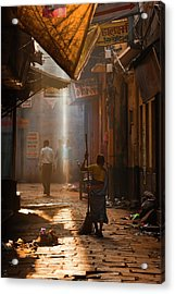 Varanasi Morning Acrylic Print