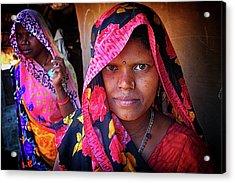 Varanasi Village Women Acrylic Print by David Longstreath