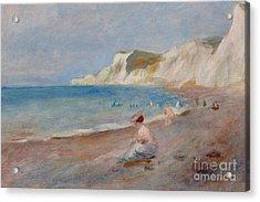 Varengeville Beach Acrylic Print by Pierre Auguste Renoir