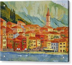 Varenna  Italy Acrylic Print by Ginger Concepcion