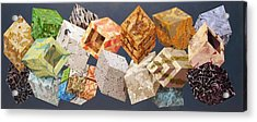 Variations In Stone Acrylic Print by M Jaquis